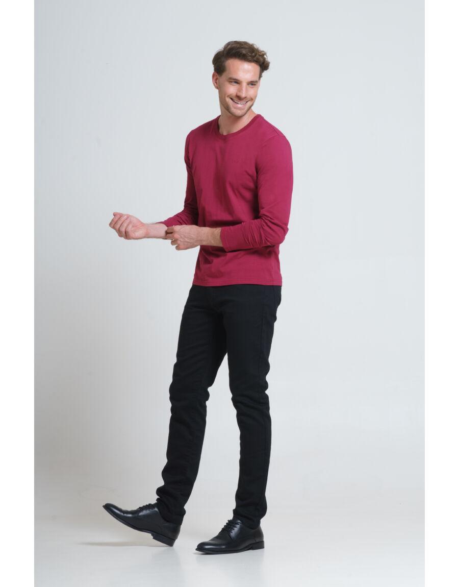 LEINSTER hosszú ujjú póló (bordeaux)