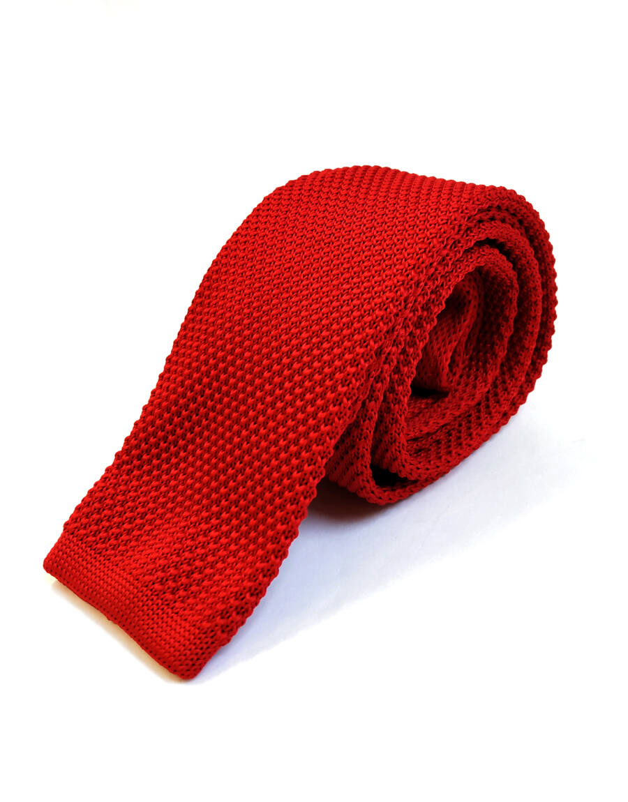 KNITTED 26 nyakkendő (red)