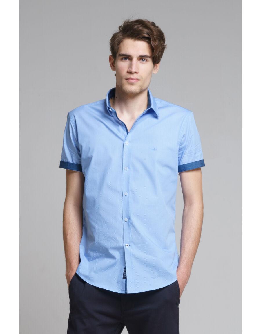 STILL CONGO NEW rövid ujjú ing (light blue)