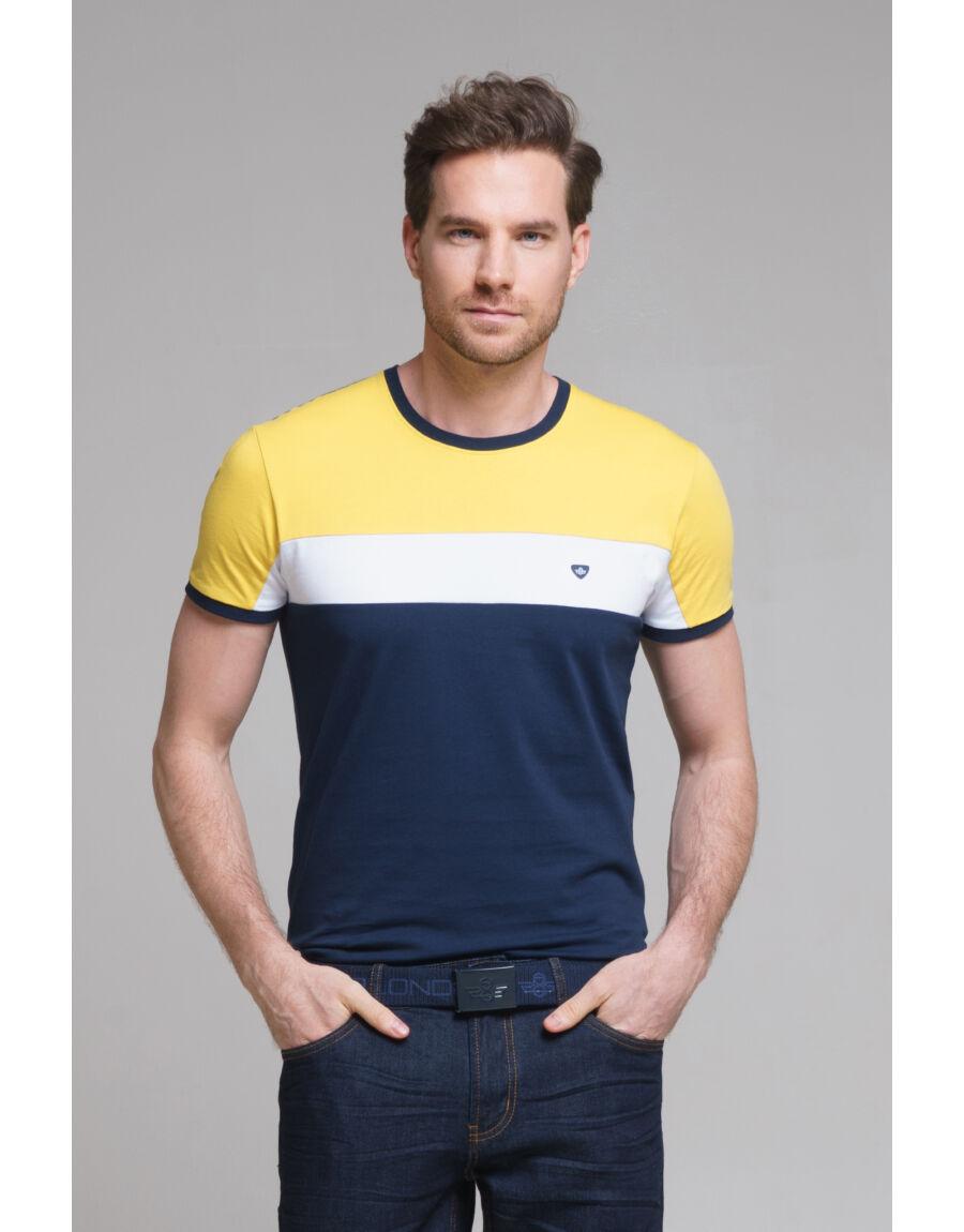 DEVA póló (navy-yellow)