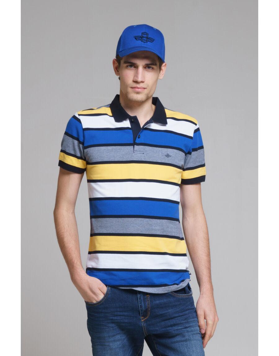 PONTE galléros póló (blue-yellow)